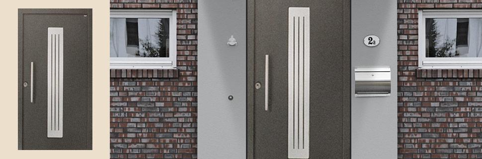 Sicherheitstüre mit Sandstrahlmotiv, Modell 4663