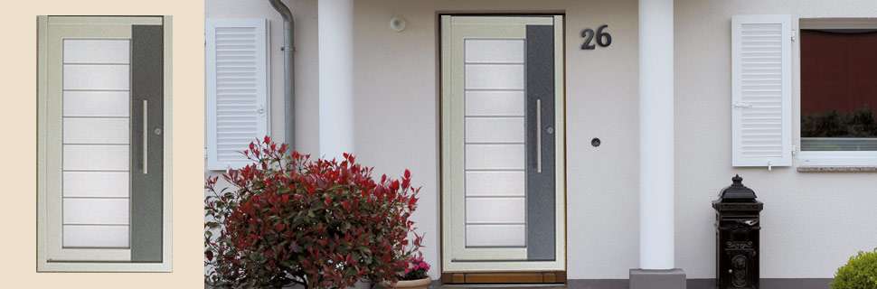 Holzhaustüren mit Glas, Modell 4130